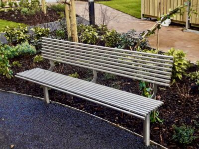 Benchmark street furniture stainless steel seat - BL003