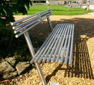 baseline street furniture BL003 stainless steel seat