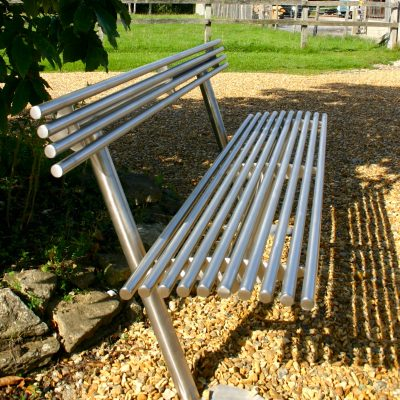 baseline street furniture BL003 stainless steel seat