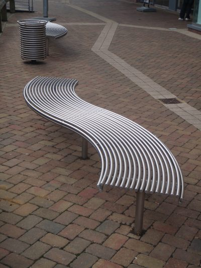 From our centerline street furniture range, made in 316 stainless steel, curved to any radius.
