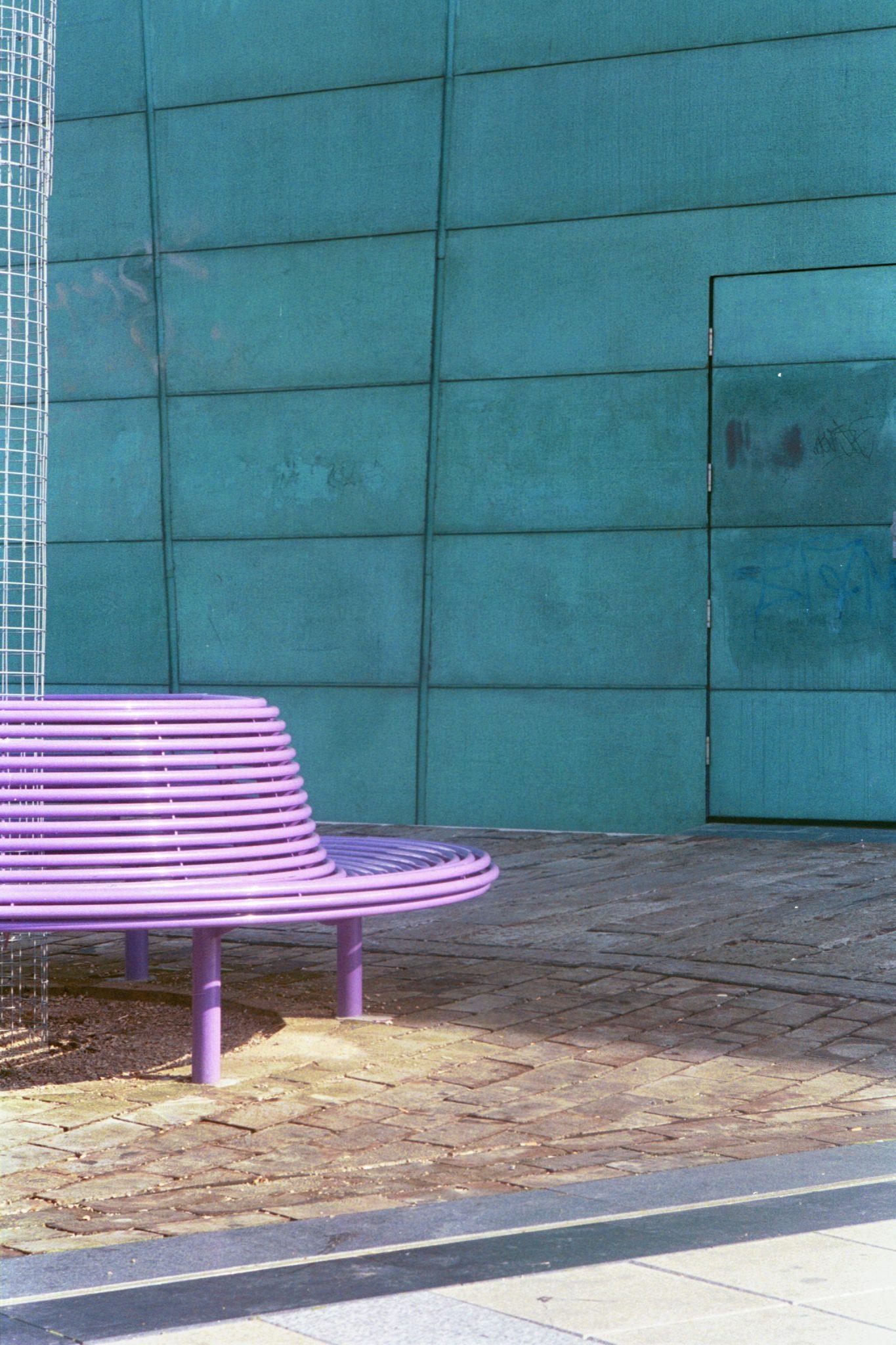 powder coated steel tree seat