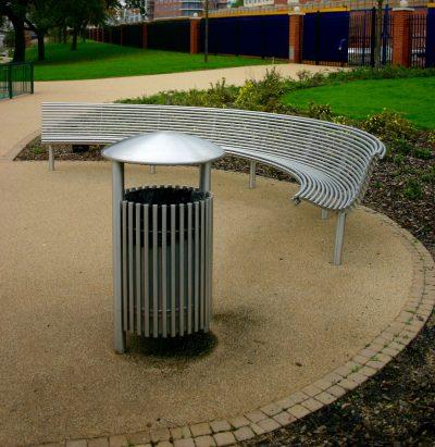 Stainless steel litter bin, Stainless steel litter bin. From our centerline street furniture range.