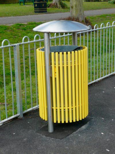 Stainless steel litter bin. From our centerline street furniture range.