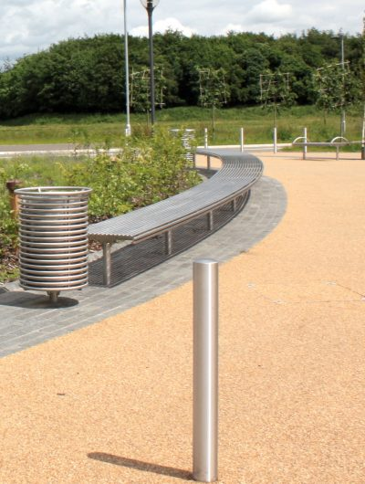 316 stainless steel curved bench