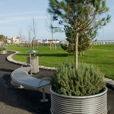 stainless steel planter, from benchmark design limited.