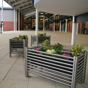 benchmark design street furniture - Baseline Stainless steel planters BLPL