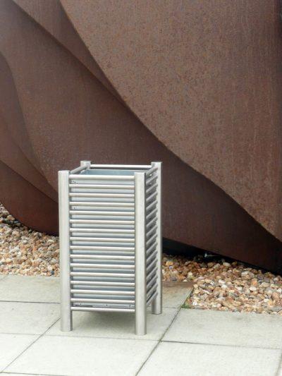 Baseline stainless steel litterbin 80L