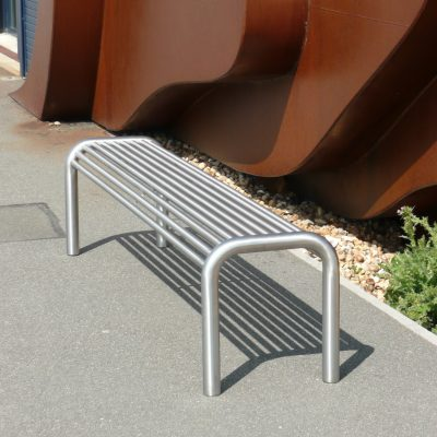 street furniture bench stainless steel