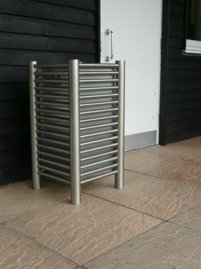 baseline BL048 stainless steel litter bin 80L capacity