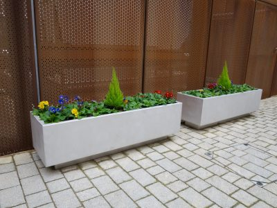 bespoke planters from benchmark street furniture