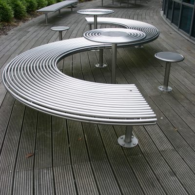 Street furniture stainless steel stool