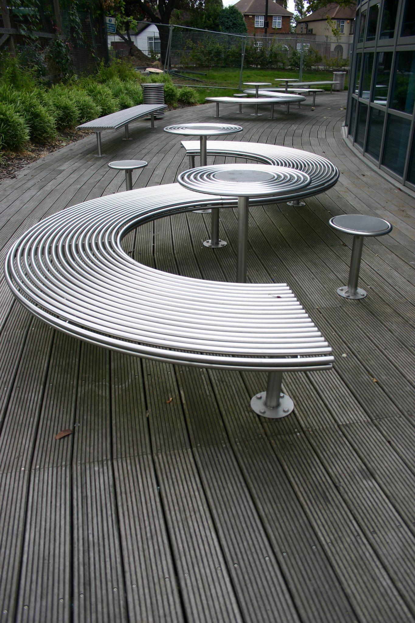Street furniture stainless steel stool