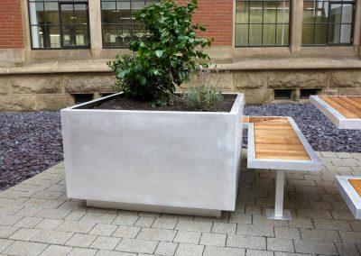 benchmark design Aluminium planter