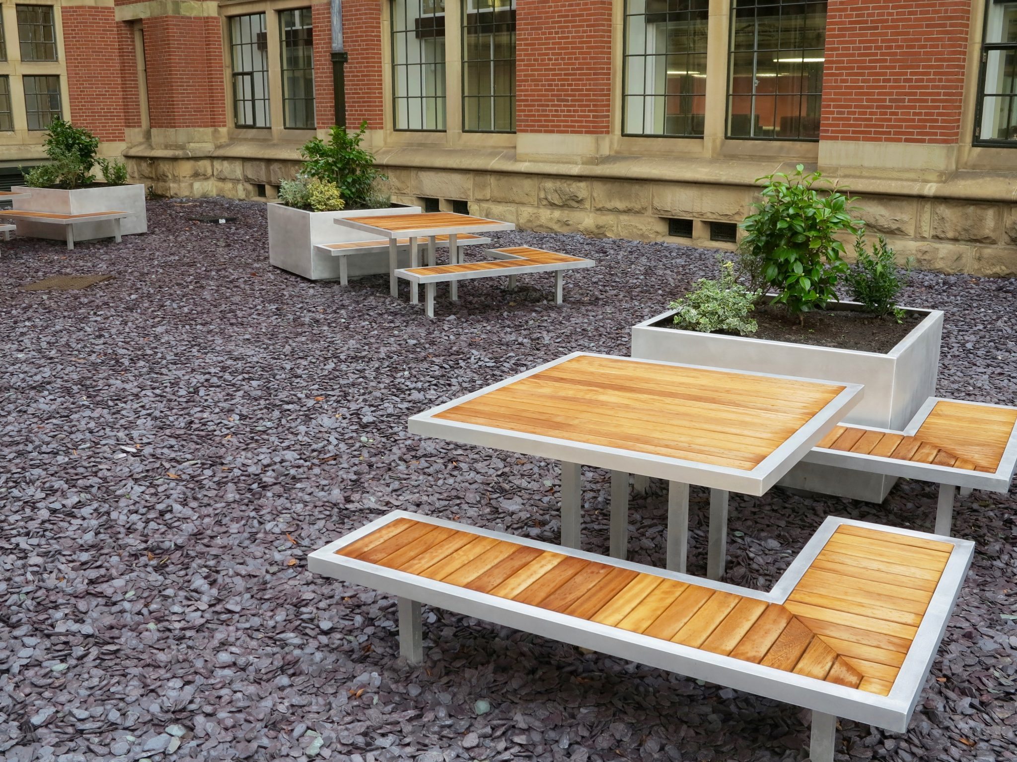 External furniture for the University of Birmingham