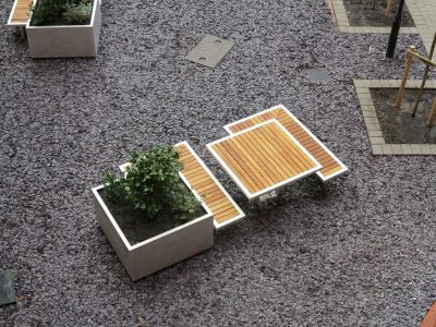 Table from benchmark design street furniture