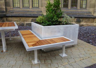 benchmark design - Campus range - street furniture - birmingham uni -  bench
