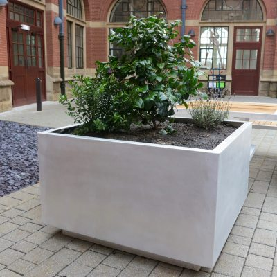 benchmark street furniture aluminium planters