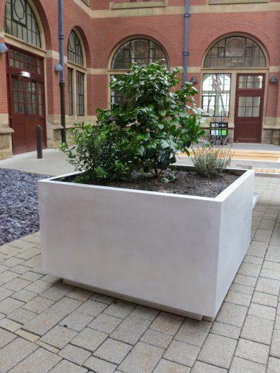 benchmark street furniture aluminium planters