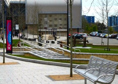 West Bromwich Metro Plaza – seating and railing