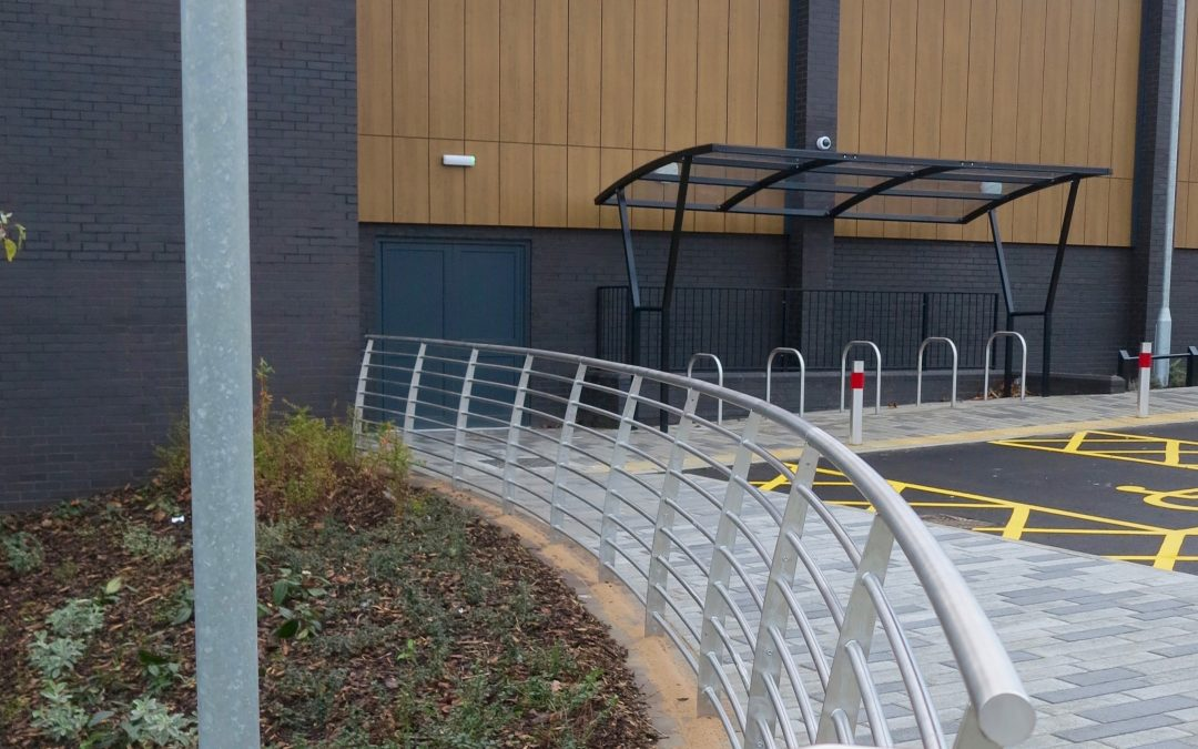 Railings and benching for Wednesbury leisure centre