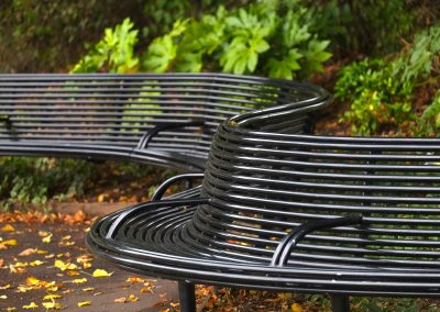 Curved Street furniture for Alexandra Park, Windsor