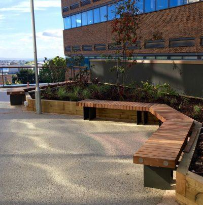 street furniture for Exeter university