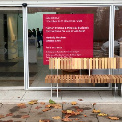 iroko aluminium seat from benchmark design street furniture