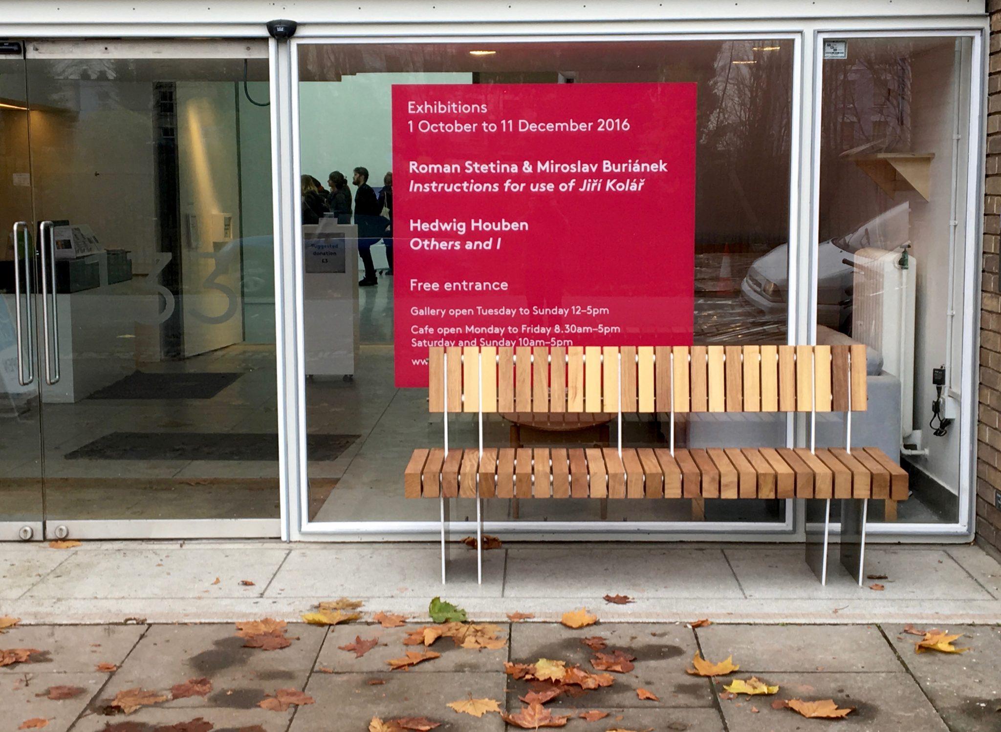 iroko aluminium seat from benchmark design street furniture
