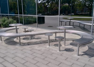 Bespoke stainless steel street furniture