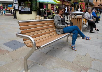 ur new timber and stainless steel seat