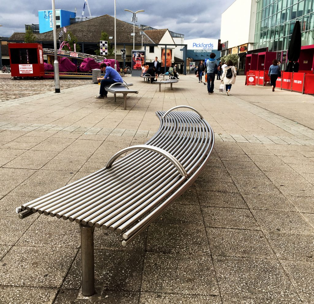 CL007 curved bench from Benchmark street furniture