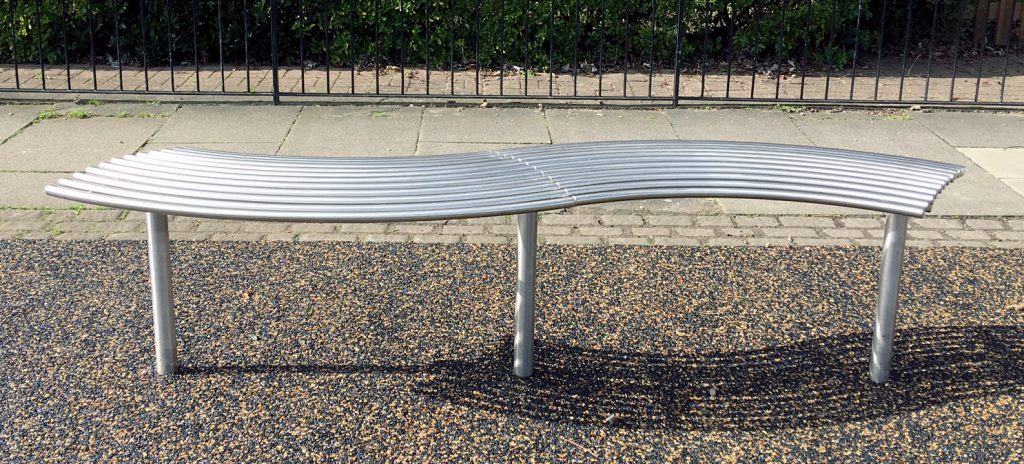 Curved street furniture from our baseline range. Manufactured in 316 stainless steel and curved to exact radius