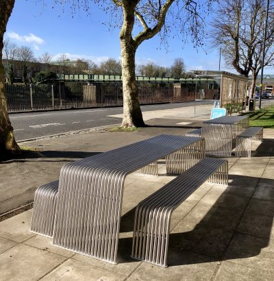 Modern picnic tables manufactured in the UK