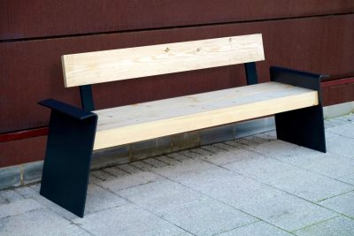 Manufactured using FSC timber and a steel frame.