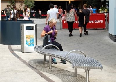 Curved street furniture  - Benchmark street furniture - Centerline CL007 curved bench