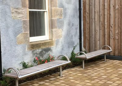 Benchmark street furniture - Shoreline stainless steel SL006 bench