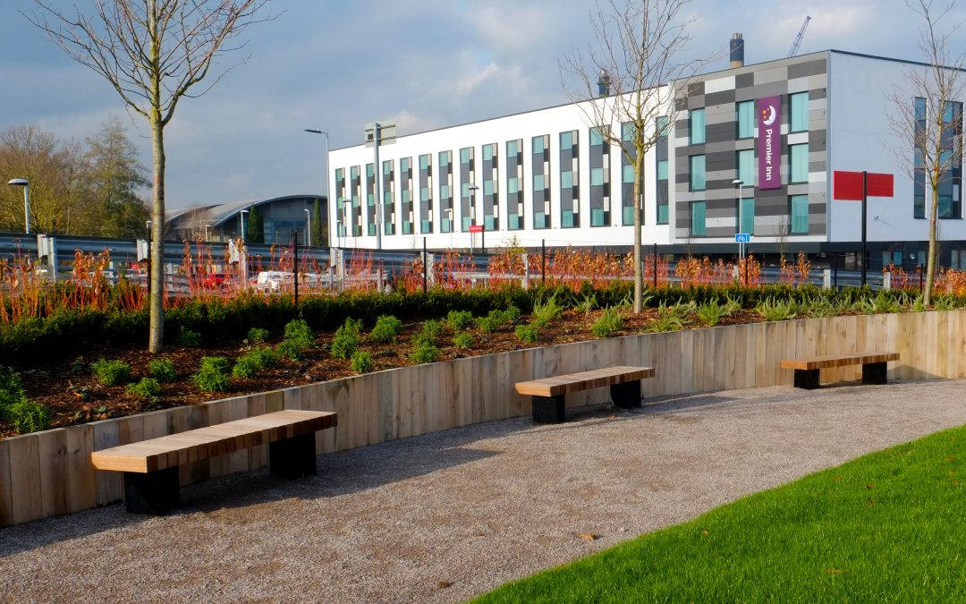 Exeter benches for industrial estate's green space
