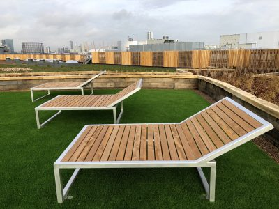 Campus Sun loungers from benchmark street furniture
