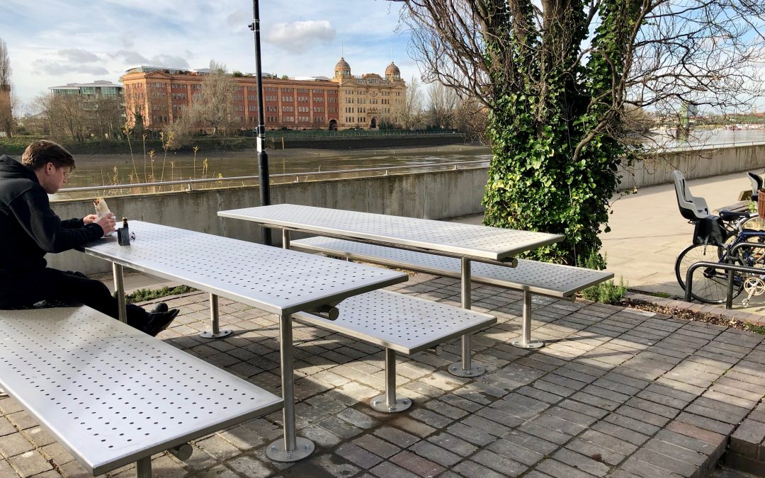 Street furniture for The River Cafe –  London