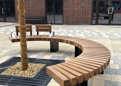 Benchmark street furniture - Exeter EX007 bench