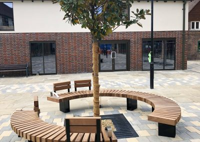 Bespoke street furniture for Piries Place, Horsham