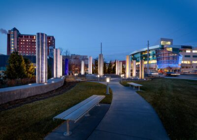 Bespoke benches UNMC and the Nebraska Medical Center